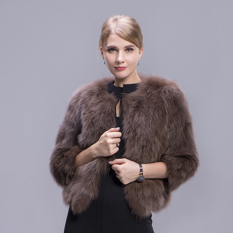 fox fur coat coffee 1 1
