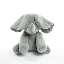 Peek A Boo Rabbit Stuffed Animals & Plush Rabbit Doll elephant Play Music Rabbit Educational Anti-stress Electric Toy For Baby(China)