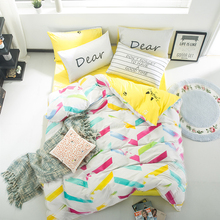 100% Cotton Bedding Sets Colorful Soft Bed Linings King Queen Size Duvet Cover Sheet Pillowcases Twin Comforter Home Textile
