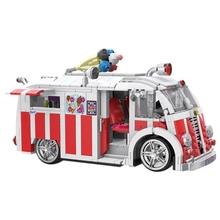 Xingbao 08004 Genuine Technic Series The Ice Cream Car Set Building Blocks Bricks Children Educational Toys Best Gifts 1