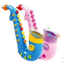 New Arrival Big Size Fun Saxophone Instrumental Music Toy 8 Kinds of Playing Models Best Gift for Kids(China)