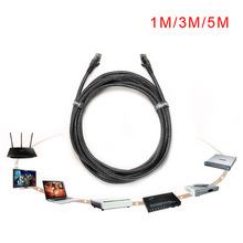 Gigabits RJ45 OFC Ethernet Cable Networking Flat Line Noodles Wire Nylon Wrap for LAN Network Optical Fiber Hihf Speed E