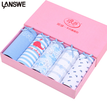 Buy LANGSHA New Panties 5PCS/lot Women Panties Sexy Girls Briefs Cotton Underwear Printed Cute Intimate Female Breathable Underpants