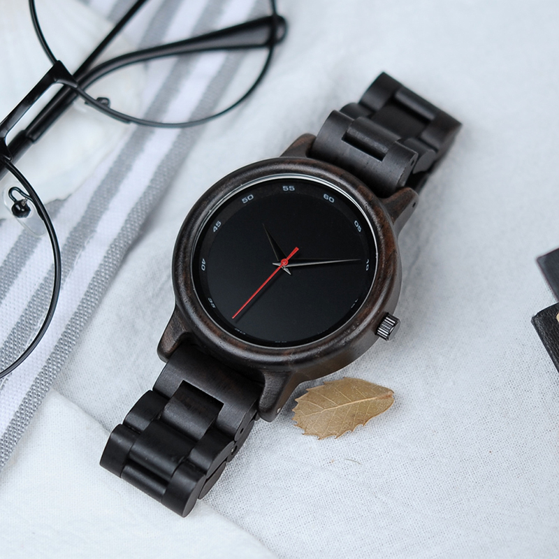 BOBO BIRD Male High Quality wrist Watch Bamboo Wooden Watches Men in gift box custom logo erkek kol saati 4