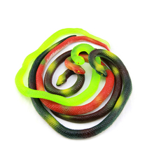 1pc 70cm Halloween Realistic Soft Rubber Toy Snake Safari Garden Props Joke Prank Gift Novelty and Gag Playing Jokes Toys(China)