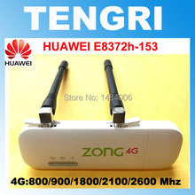 Unlocked Huawei E8372 E8372h-153 ( plus a pair of antenna) 150M LTE USB Wingle LTE Universal 4G USB WiFi Modem dongle car wifi