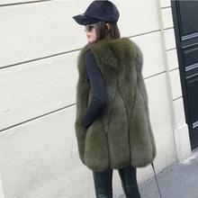 New Arrival 2017 Winter Warm Fashion brand Women Faux Fur Vest Faux Fur Coat Fox Fur Vest Colete Feminino Plus size S-4XL wj1180