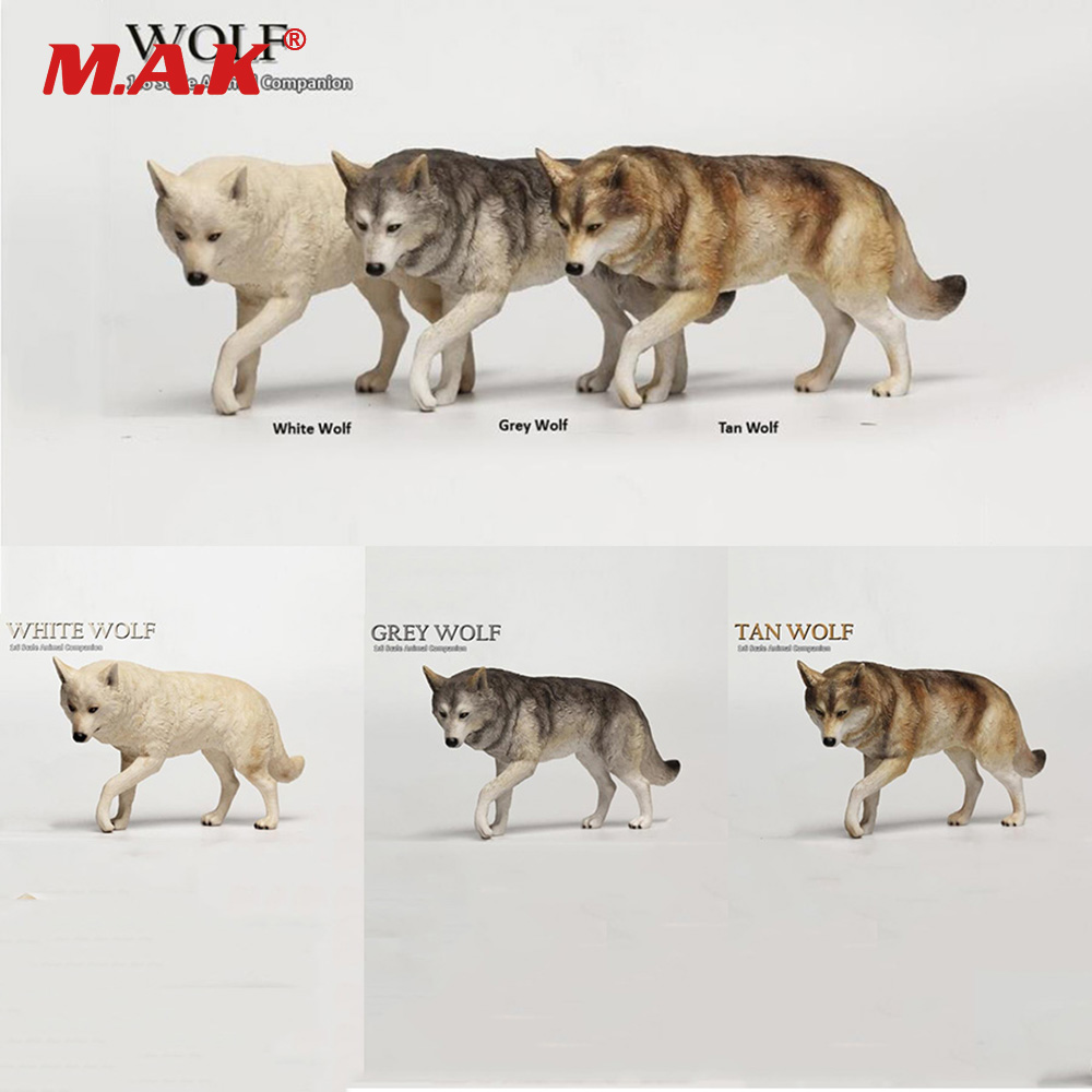 1:6 Scale Animal Companion Wolf Action Figure Accessories  Animal Statue Model Toys Collection for 1/6 Scale 12 Action Figure<br>