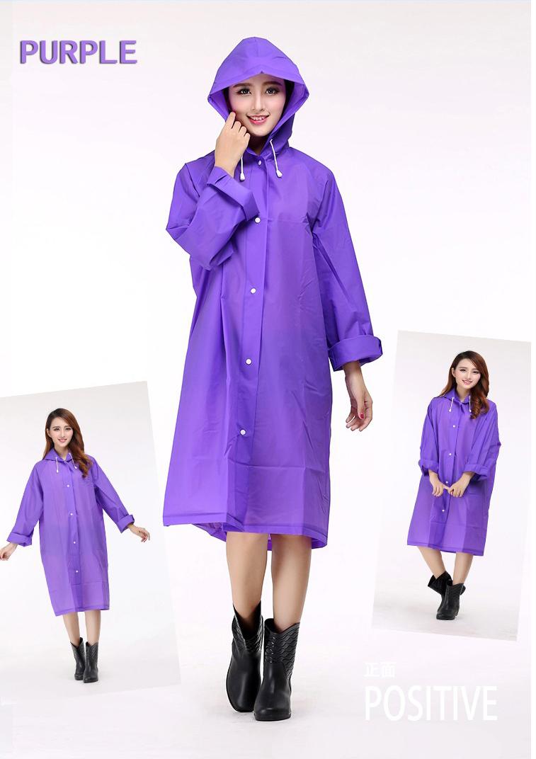 Women Transparent Portable Long Raincoats 11a