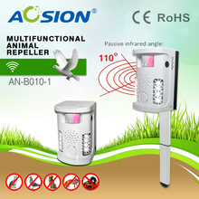 AN-B010-1 outdoor and indoor  Multifunctional Ultrasonic animal repeller bird mole cat dog repellent pest control