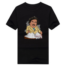2017 Men Pablo Escobar Sunglasses Famous Narcos Colombian Gangster Drugas T-shirt Tees Short Sleeve T SHIRT Comic Men's W1028006