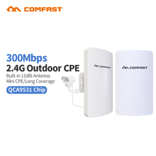 Pair 1-2km 2.4G 300Mbps Outdoor CPE Wireless Bridge High Power Wifi Router Repeater Wireless Access Point for Wireless ip Camera
