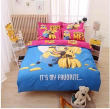 Hot sale!2017 NEW 3D Cartoon Bedding Set / high quality Bed Linen Bed  Comfortable Sheet + Duvet Cover + Pillowcases HL---0078