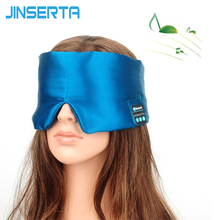 JINSERTA Wireless Bluetooth Sleep Headphone High Quality Stereo Earphone For Listening Music&Answer Phone&Silk Eye Mask Headband
