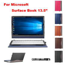 Creative design HighQuality PU leather case for Microsoft Surface Book 13.5 inch Laptop Notebook protective Cover+Keyboard cover(China)