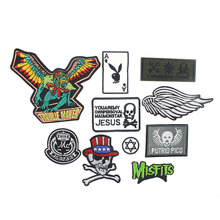 Fabric Logo Badge Patches For Clothing Paste Parches Steering-wheel DIY Accessory Sewing For Sticker Clothes 10Color Available