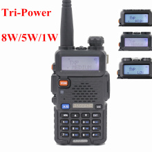 BaoFeng UV-5R 8W UHF/VHF Dual Band Two Way Radio Walkie Talkie 128channels FM/VOX/TOT/Dual display/standby High/Middle/low Power