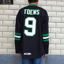 MeiLunNa Christmas Black Friday UND North Dakota Fighting Sioux #9 Jonathan Toews 0903 Black Alternate Jersey