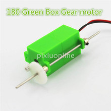 J019 180 Green Box Micro Gear Motor Both Sides have Shaft Free Shipping Russia