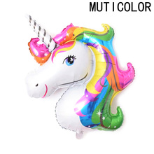 1pcs 33*39cm Cartoon Animal Balloon Aluminum Foil Balloons for Birthday Party inflatable balls Decoration Anagram Rainbow Gift(China)