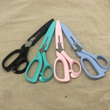 1 pcs (around 23cm)HIGH quality DIY fabric scissors stainless steel scissors 4 colors choose(China)