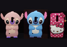 Cute 3D Cartoon Lilo Stitch&Hello Kitty Polka Dot Soft Silicone Case for LG Stylus 2/Stylo 2/LS775/K520 Rubber Cover Phone Cases(China)