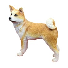 Resin Akita Puppy Statue car styling Akita fans collection article Christmas gift toy