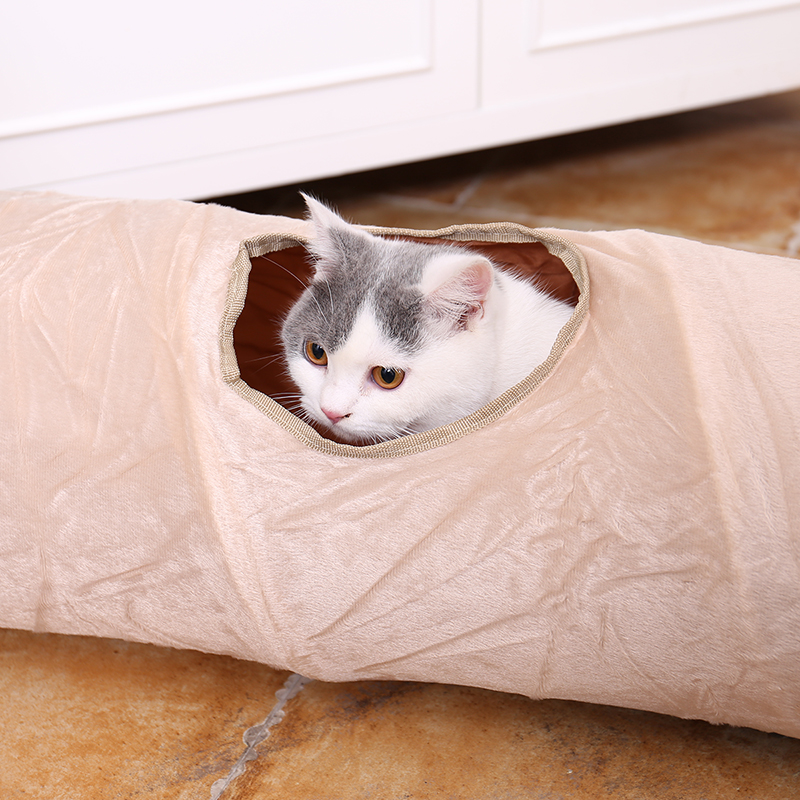 luxury cat tunnel Luxury Cat Tunnel-Suede Material,Soft And Durable-Free Shipping HTB1VgkMetbJ8KJjy1zjq6yqapXaN
