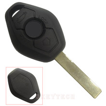 Replacement remote car key shell 2 track for BMW 3 5 7 SERIES X3 X5 backside with words with logo free shipping high quality