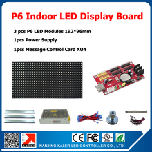 China manufacturer supply indoor led sign display business store close & open sign p6 indoor diy led modules 3pcs +1 card+1power