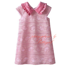 New Arrival Girls A-line Dress Peter Pan Collar Baby Princess Dress Wholesale Kids Apparel In Stock DMGD81127-20L(China)