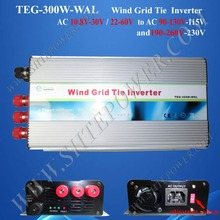 AC 12V 220V pure sine grid tie inverter wind 300w with switch