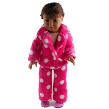 A lovely pajamas + shoes for 18 inches of the United States dolls, is a Christmas gift to the children! b825+n32
