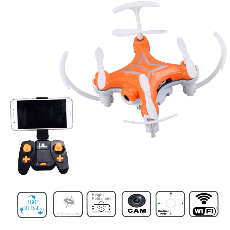 Mini RC Drone WIFI Camera HD 2.4G 6 Axis Gyro Micro RTF Quadcopter 4CH Headless Mode Remote Control Toys dron
