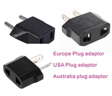 10 Pieces Travel house house  2 pin flat US USA America China standard to 2 pin round EU Europe AC  power Converter plug adaptor