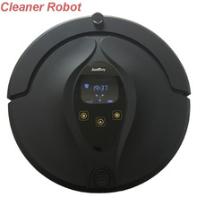 Robot Vacuum Cleaner with A-Charge dry and Wet Mopping for Wood Floor ,Timing,LCD display,sh