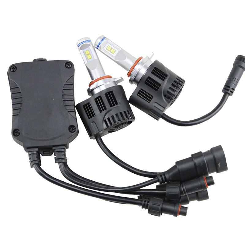 2PCS* 55W 9005 HB3 5200LM Auto LED Headlights Bulb 6000K Lamp 3000K-6000K White Aluminum DC12-24V canbus 9005 HB3 Led bulbs<br><br>Aliexpress