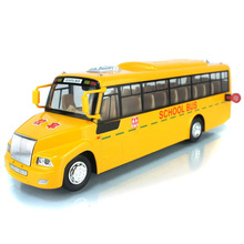 1:32 Large Size School Bus Model Toy Car Back Function School bus Acousto-optic Big Bus Children Toy Car Model Children Gift