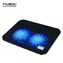 NUOXI M10B 12-15.6 inch Laptop Cooler USB Laptop Cooler Notebook Cooler 2 Fans Cooling Stand Pad And Blue LED for Laptop cooling(China)