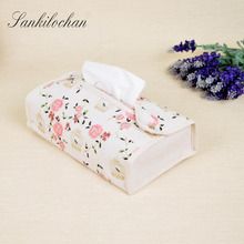 Cute Tissue Box Cloth Napkin Holder Seat Type Home Car Tissue Case Facial Tissue for Home Decoration pumping tray AU353(China)