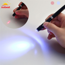 OOBEST 4 in 1 LED Pen Ball Laser Pointer Torch Flashlight Touch Screen Ballpoint for iPad Apple iphone Samsung(China)