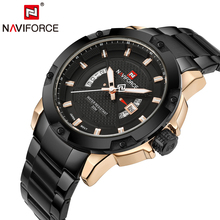 Original NAVIFORCE Luxury Brand Steel Military Sports Watches Men Quartz Waterproof Men's Clock Wristwatch relogio masculino(China)