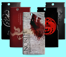 Ice and Fire Cover Relief Shell For Xperia T2 Ultra Cool Game of Thrones Phone Cases For Sony Xperia Z Ultra XL39h