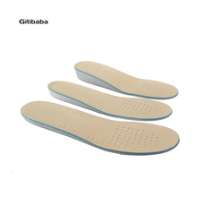 100% Genuine leather Comfortable Memory form height increase insoles arch support orthopedic insoles health and beauty shoe(China)