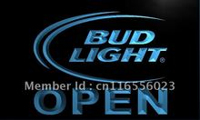 LA025- Bud Light Beer OPEN Bar LED Neon Light Sign home decor shop crafts(China)