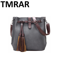 Common trendy women tassel bucket bag national style gypsy lady lovers bags valentine lovers handbags good quality vintage M2002(China)