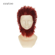 ccutoo Fate/Zero Rider Short Red Slicked Back Fluffy Layered Synthetic Hair Heat Resistance Fiber Cosplay Full Wigs+Bear(China)