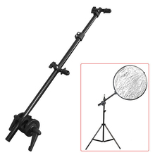 1Pc Reflector Holder Aluminum Studio Photography Holder Bracket Swivel Head Arm Support Stand Prop