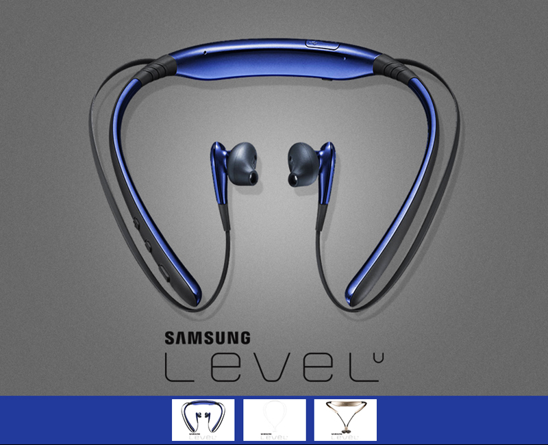 SAMSUNG Level U Wireless Earphones with Mic Sport Headsets Bluetooth 4.1 for Iphone X Galaxy S8 Edge Support Official Test