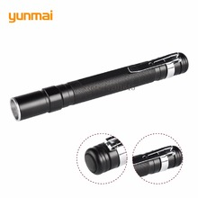 Portable Mini Penlight CREE Q5 2000LM LED Flashlight Torch Pocket Light Waterproof Mini Torch Lamp use 2*AAA Battery(China)